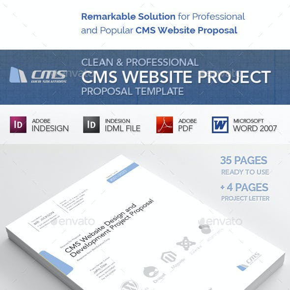 Clean and Professional CMS Web Proposal