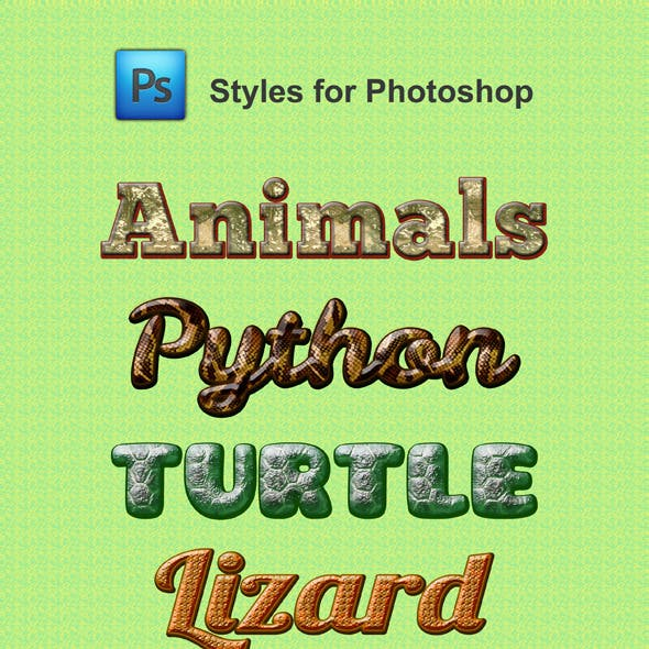 Animal Styles for Photoshop