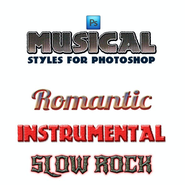 Musical Styles for Photoshop