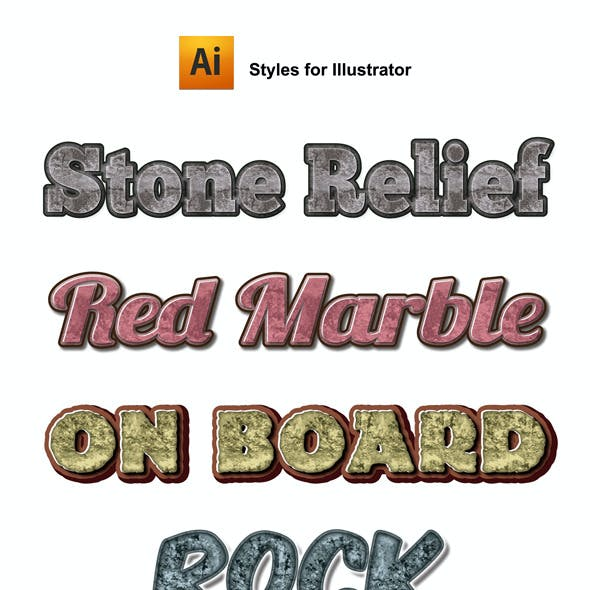 12 Stones Graphic Styles for Ai
