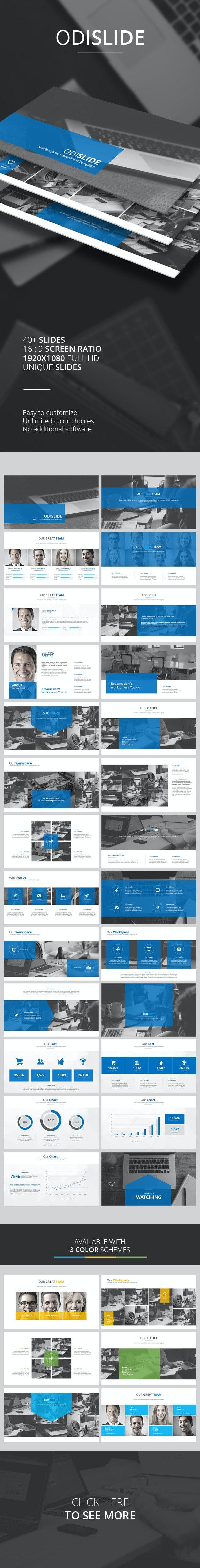 Odislide PowerPoint Template - PowerPoint Templates Presentation Templates