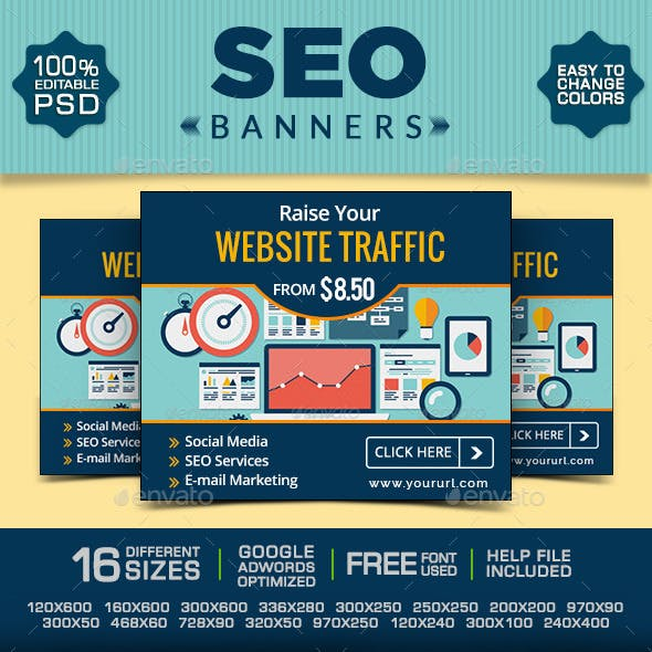 SEO Web Banner Set