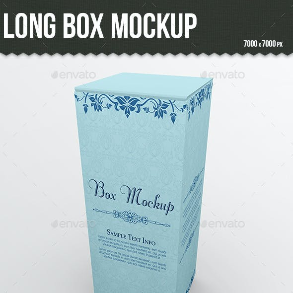 Long Box Mockup
