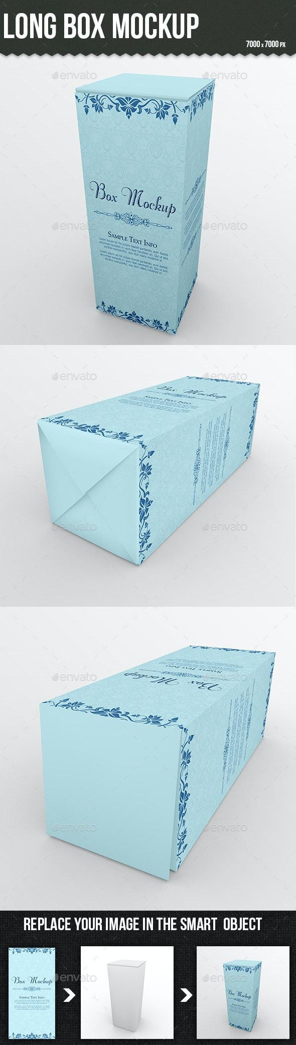 Long Box Mockup - Product Mock-Ups Graphics