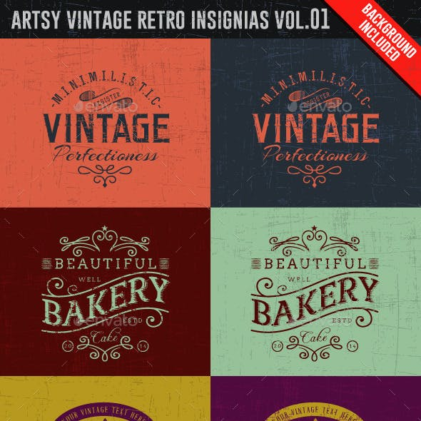 Artsy Vintage Retro Insignia and Logos Vol.01