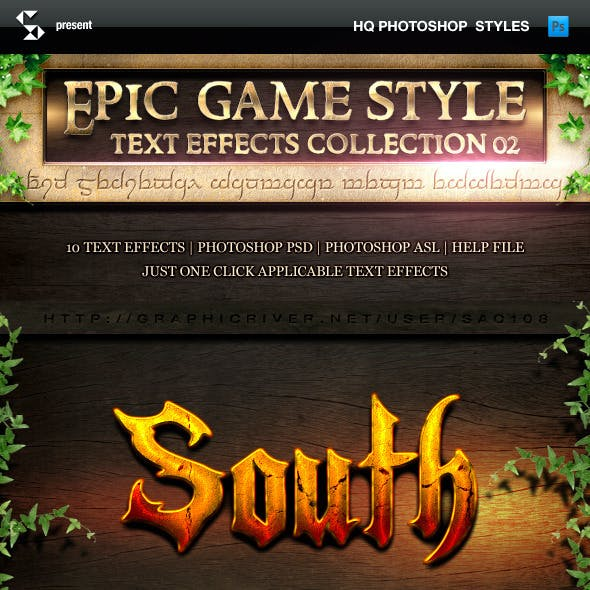Epic Game Style Text Effects - Collection 2