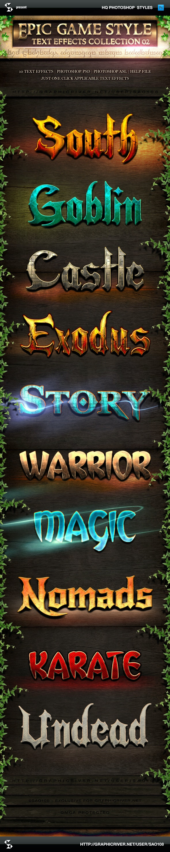 Epic Game Style Text Effects - Collection 2 - Text Effects Styles