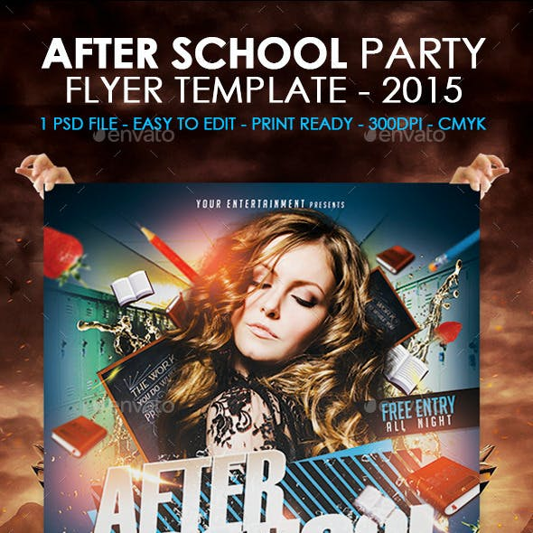 After School Party Flyer Template