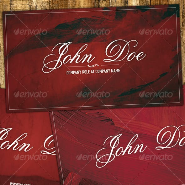 Maroon - Artistic and elegant business card