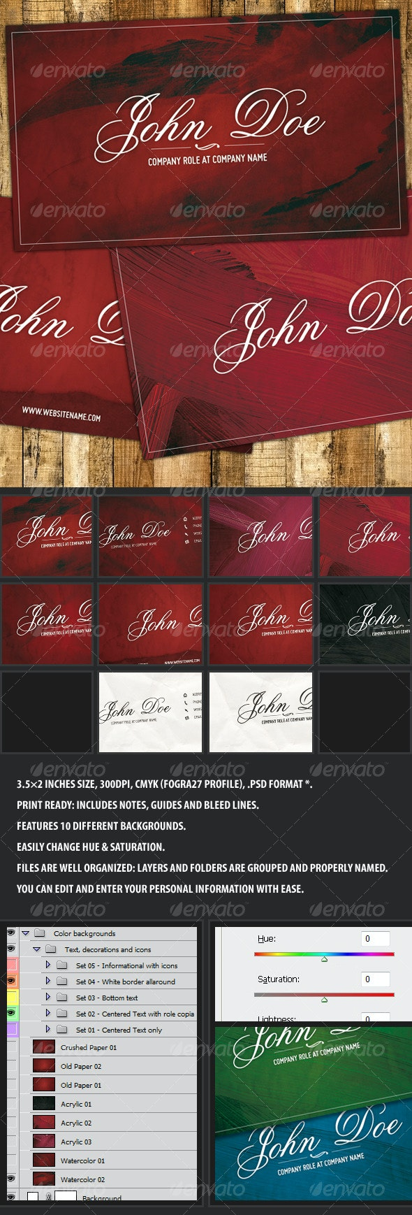 Maroon - Artistic and elegant business card - Creative Business Cards