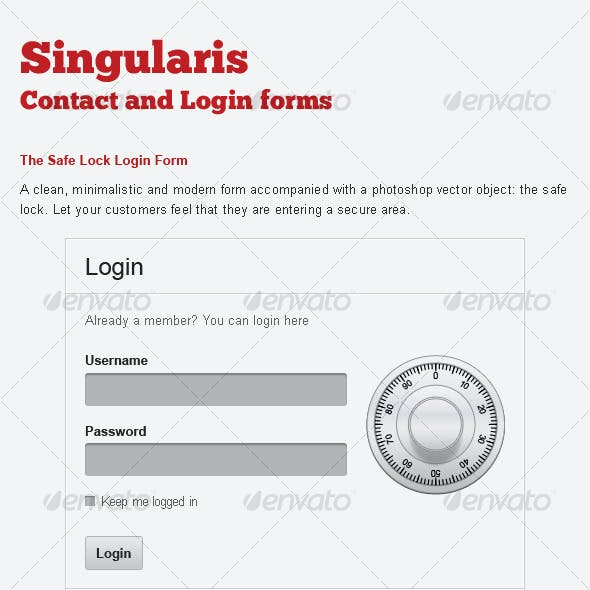 Singularis Webforms Contact Forms and Login Form