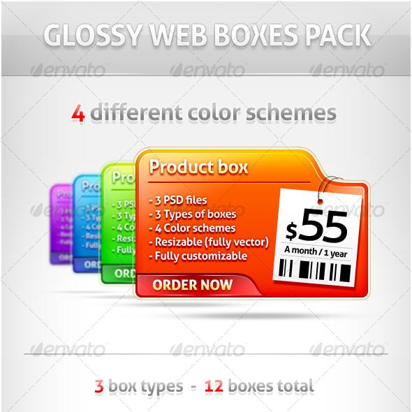 Glossy Web Boxes Pack