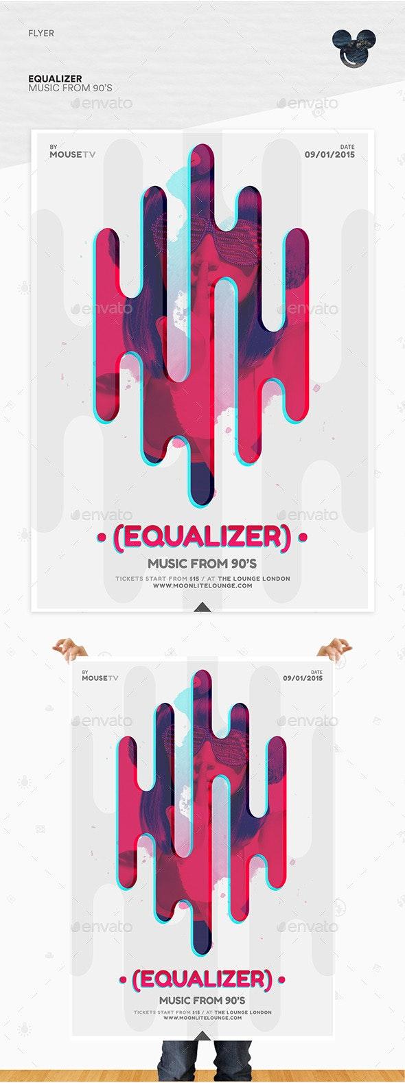Equalizer Flyer - Flyers Print Templates