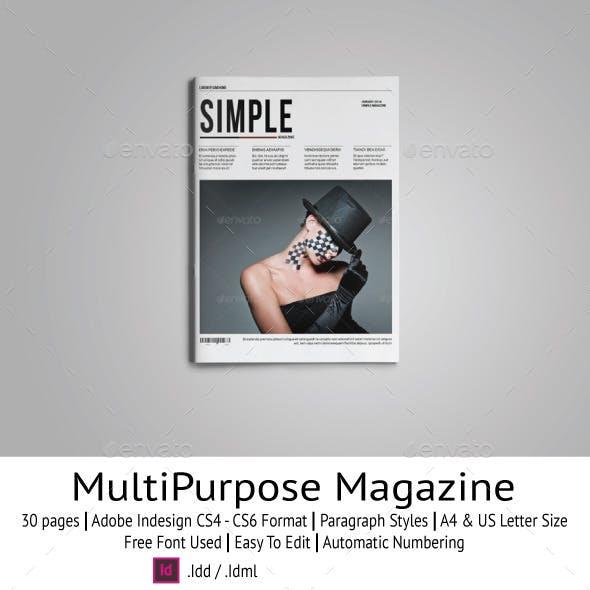 Simple Magazine Template
