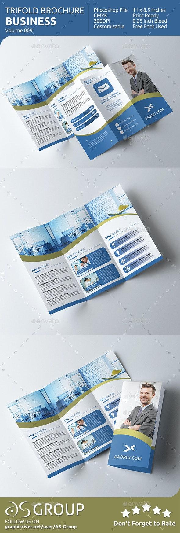 Business Tri-fold Brochure - v009 - Brochures Print Templates