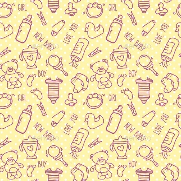 Seamless Baby Background for Baby Shower