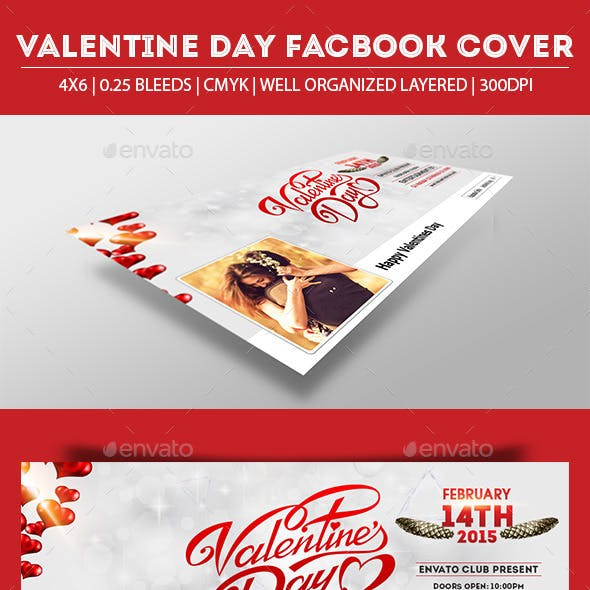 Valentine Day Party Facebook Cover