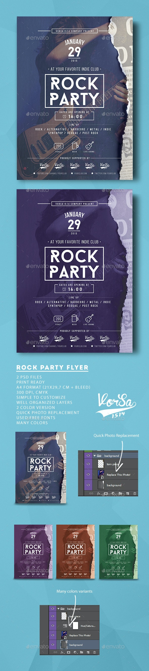 Rock Party Flyer - Clubs & Parties Events