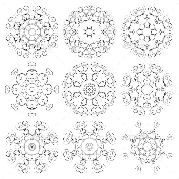 Round Set of Ornaments