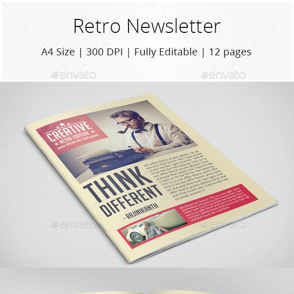 Retro Style Newsletter