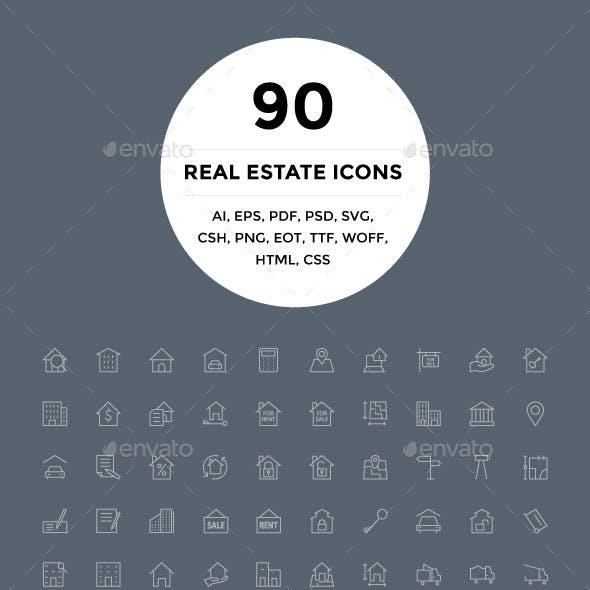 90 Real Estate Icons