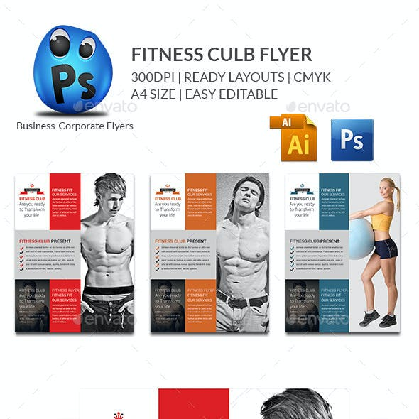 Fitness Flyer Print Templates