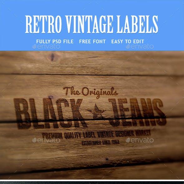 Vintage Retro Badges - Bundle