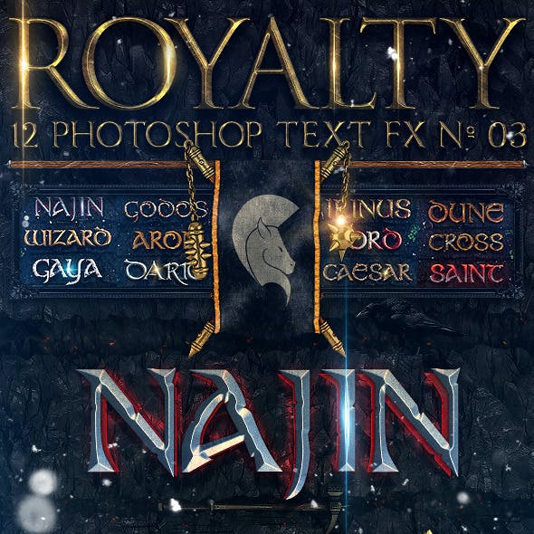 Royalty Photoshop Text FX Vol 03
