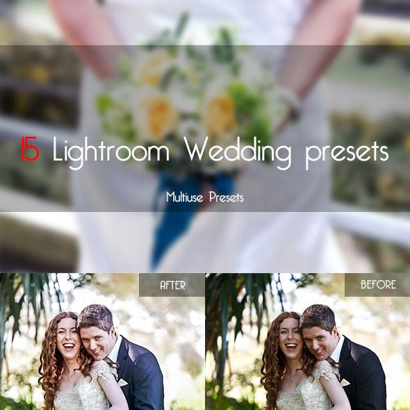 15 Wedding Lightroom Presets