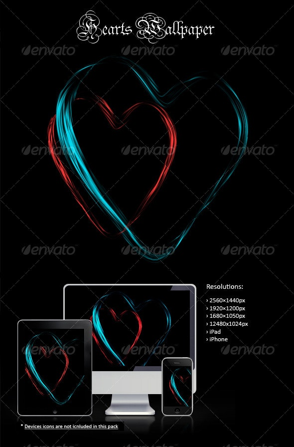 Hearts Wallpaper - Backgrounds Graphics