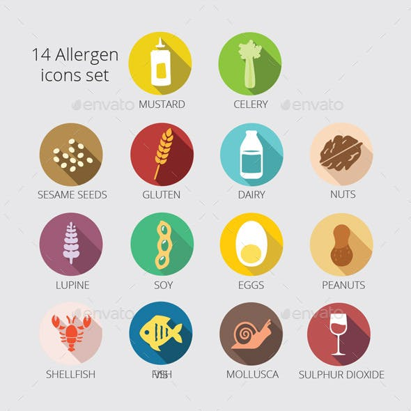 14 Main Allergy icons package