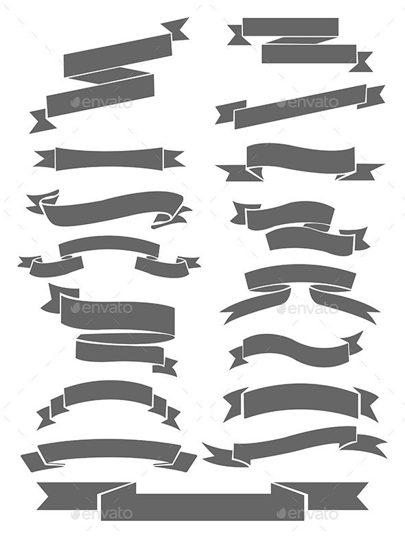 Ribbons Collection - Decorative Vectors