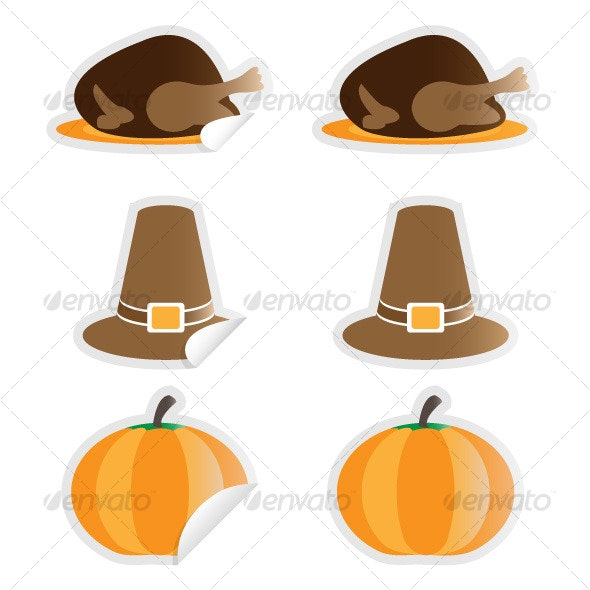 Thanksgiving Stickers - Seasons/Holidays Conceptual