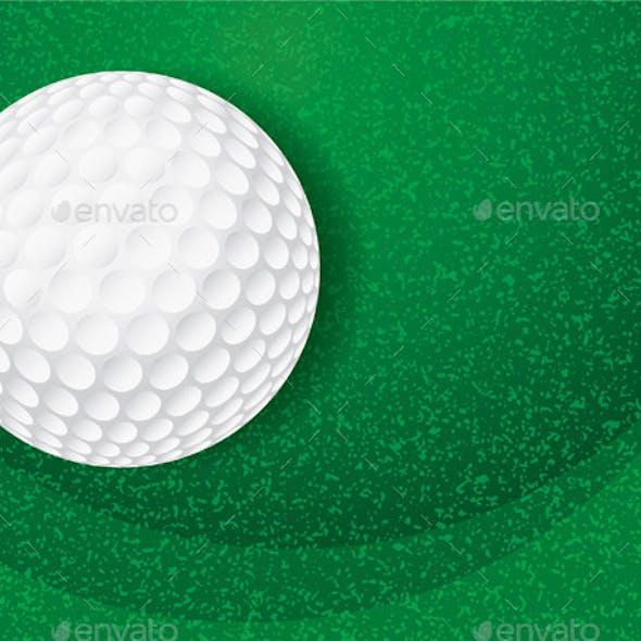 Golf Ball on Textured Green Illustration