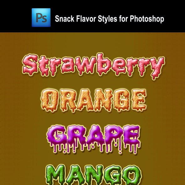 Snack Flavor Styles for Photoshop