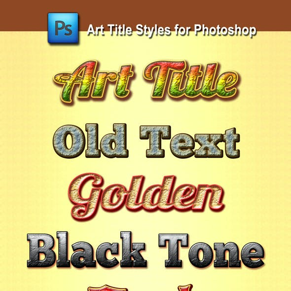 Art Title Styles for Photoshop