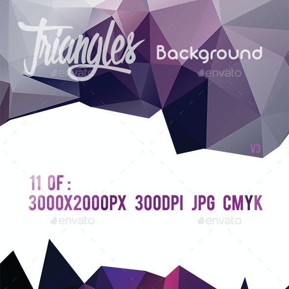 11 Triangles Background V3
