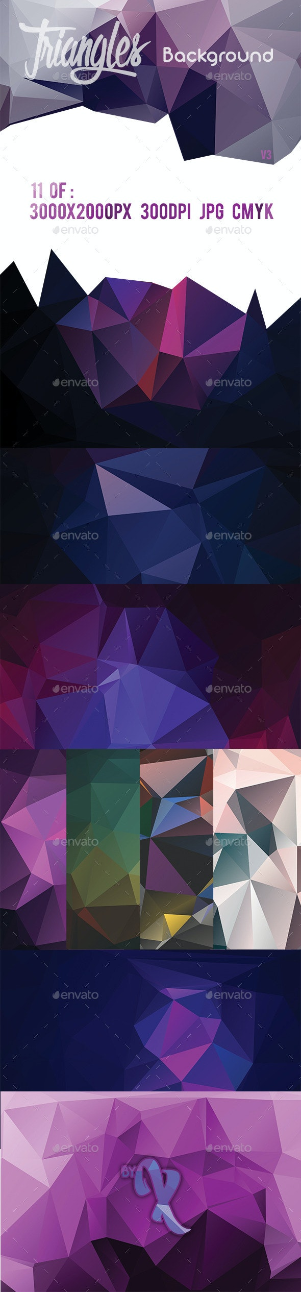 11 Triangles Background V3 - Abstract Backgrounds