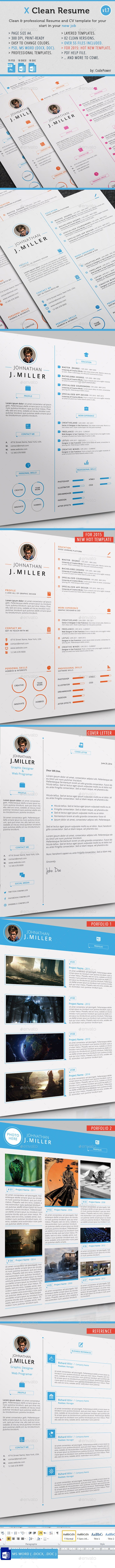 X Clean Resume - Resumes Stationery