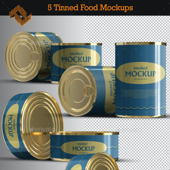 Canned \ Tinned Food Mockups