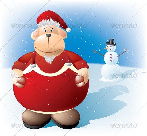 Shepherd Santa - Characters Vectors