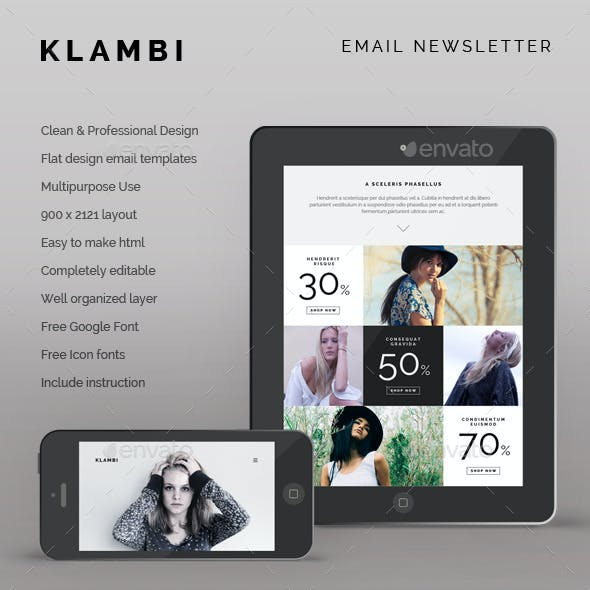 Klambi Email Newsletter II