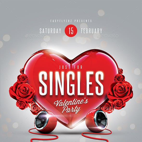 Just for Singles Flyer Template