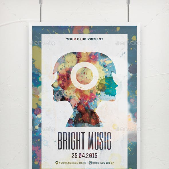 Bright Music Poster Template