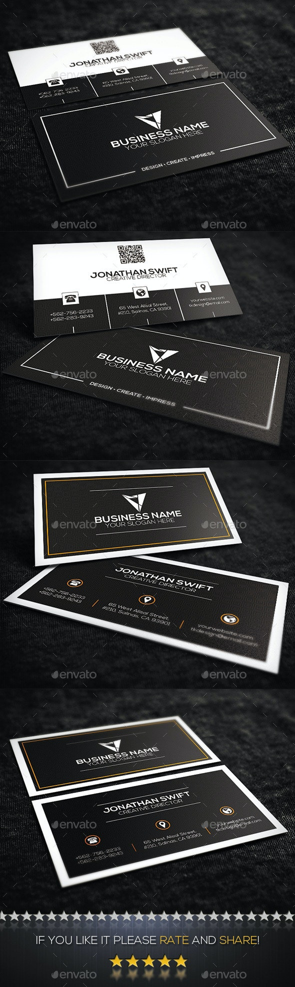 2 in 1 Corporate Business Card Bundle No.03 - Corporate Business Cards