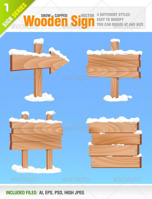 Wooden Sign - Seasons/Holidays Conceptual