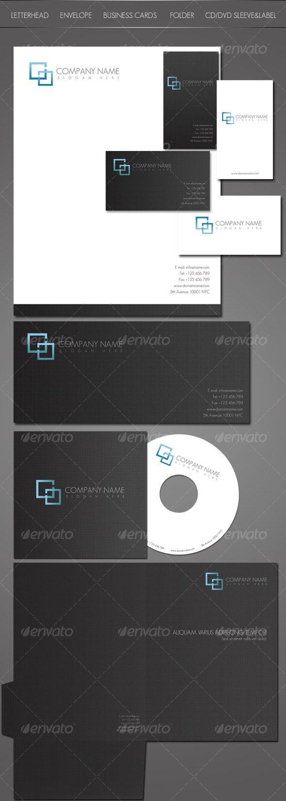 Stylish Identity Kit - Stationery Print Templates