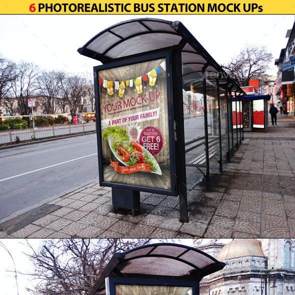 6 Bus Station Mock Ups