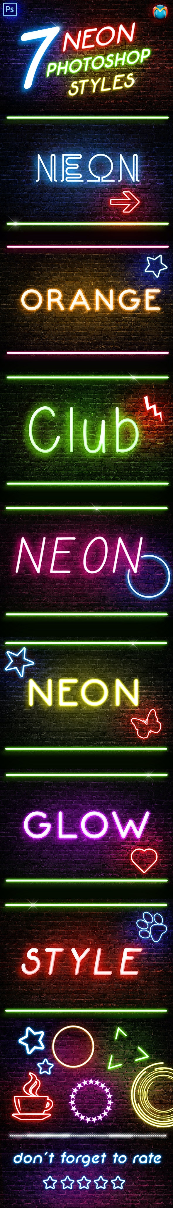 Neon Photoshop Styles - Text Effects Styles