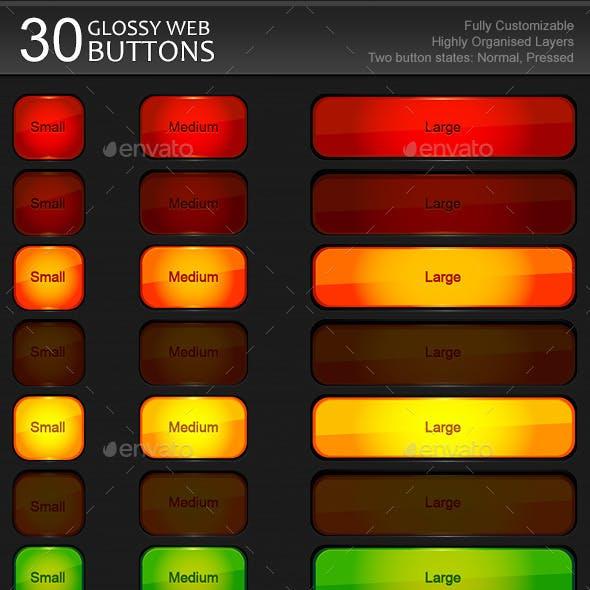 Glossy Modern Web Buttons #1